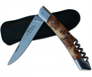 THIERS knife in juniper wood with scorcrew.